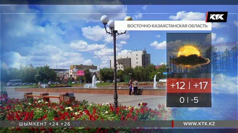 Казахстанцев ждут дождливые выходные