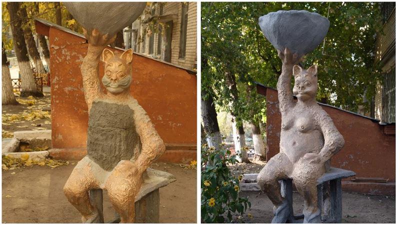 «Голой» женщине-кошке из Костаная потребовалось уменьшить грудь