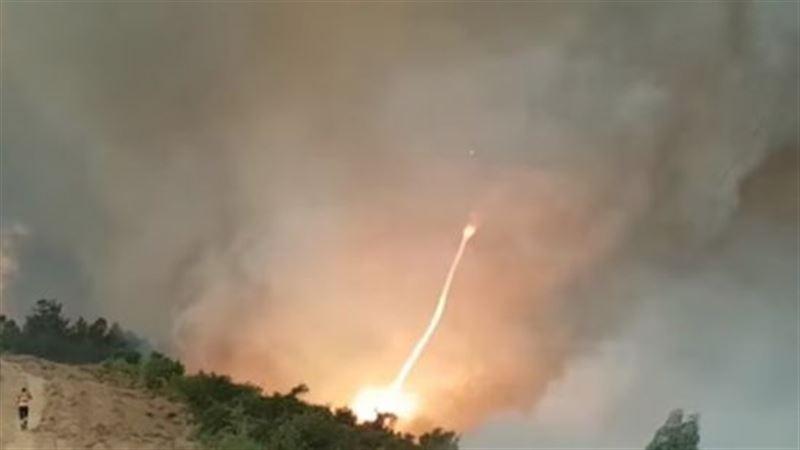 Уникальный огненный торнадо сняли на видео в Португалии