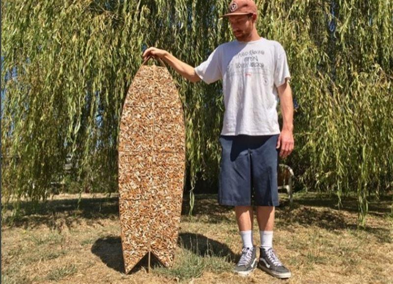 Доска для серфинга из… десяти тысяч сигаретных окурков