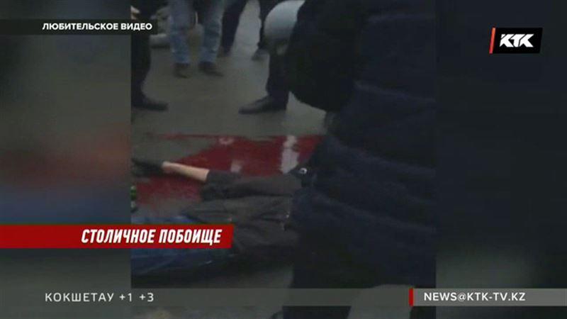 Настоящая кровавая бойня развернулась на парковке торгового центра Астаны