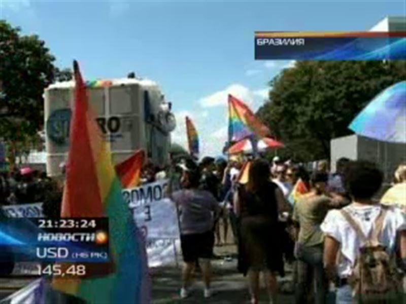 Тысячи геев вышли на улицы бразильской столицы