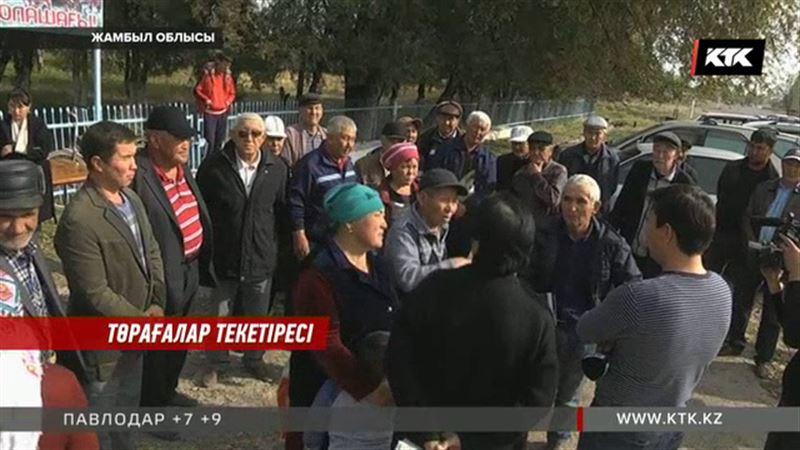 Жамбыл облысында басшылардың текетіресінен қарапайым халық зардап шегуде