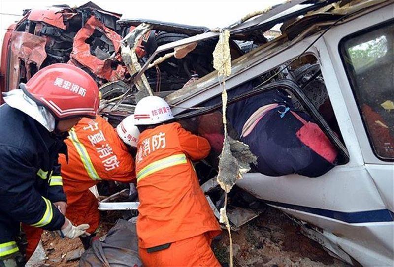 На трассе в Китае столкнулись более 30 автомобилей