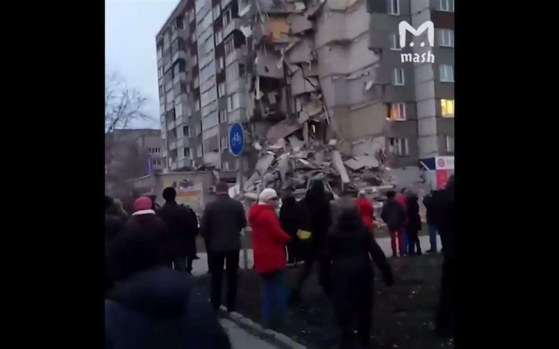 Обрушилась часть жилой девятиэтажки в России