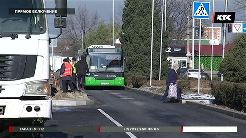 В Алматы запустили первую в стране скоростную полосу для автобусов