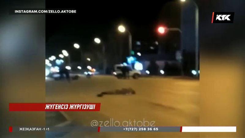 Ақтөбеде көлігімен адам басып өлтірген жүргізушіні куәгерлер ұстап берді