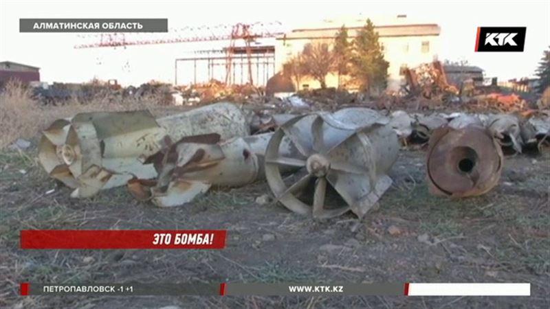 В пункте приема металлолома обнаружили 46 авиационных бомб