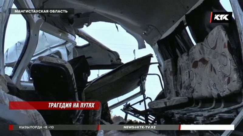Водитель «Газели», попавшей под тепловоз в Мангистауской области, скончался на месте