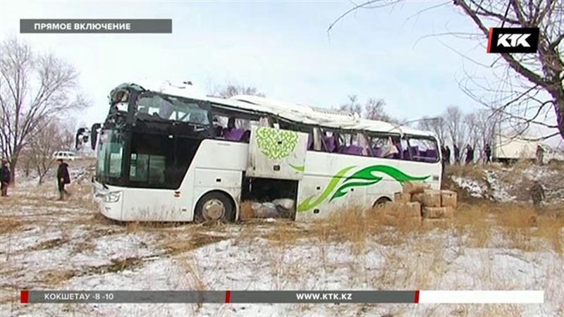 ДТП с участием рейсового автобуса в Алматинской области – есть жертвы