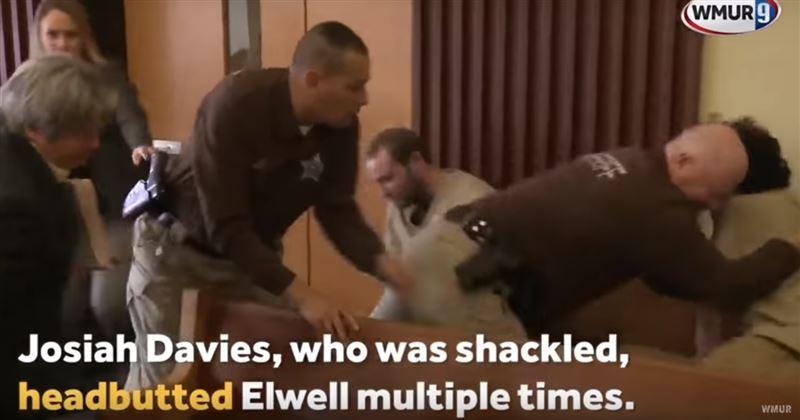 В зале суда на педофила набросился другой заключенный в наручниках