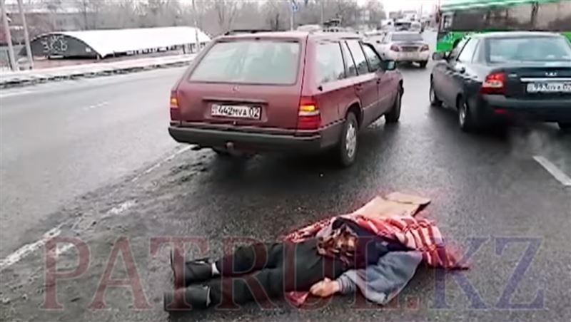ВИДЕО: пожилого мужчину сбили насмерть в Алматы