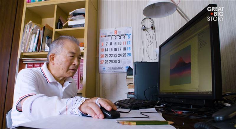 Японский художник рисует в программе Microsoft Excel