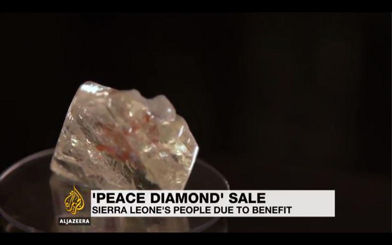 6,5 миллиона долларов отдали на аукционе за 700-каратный «Алмаз мира»