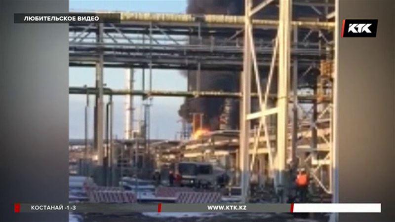 На Атырауском НПЗ загорелся трубопровод