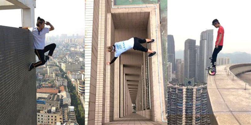 ШОК: китайский руфер сорвался с крыши 62-этажного небоскреба
