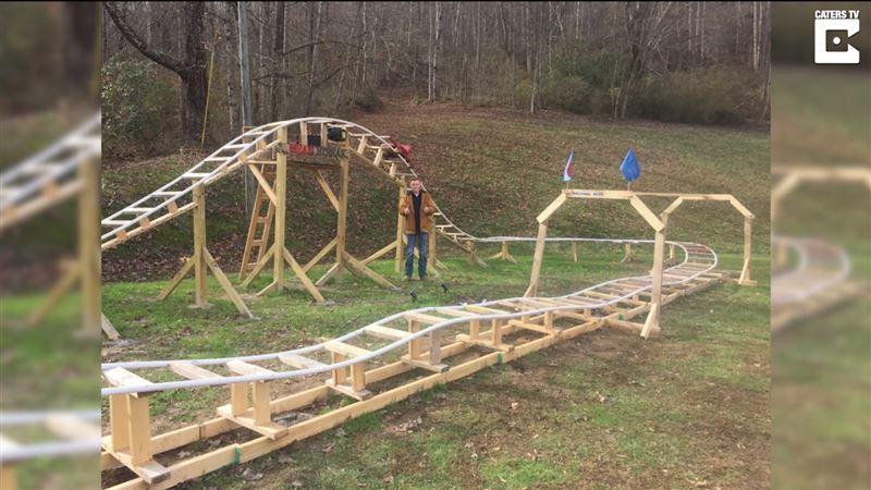 16-летний подросток построил американские горки у себя во дворе