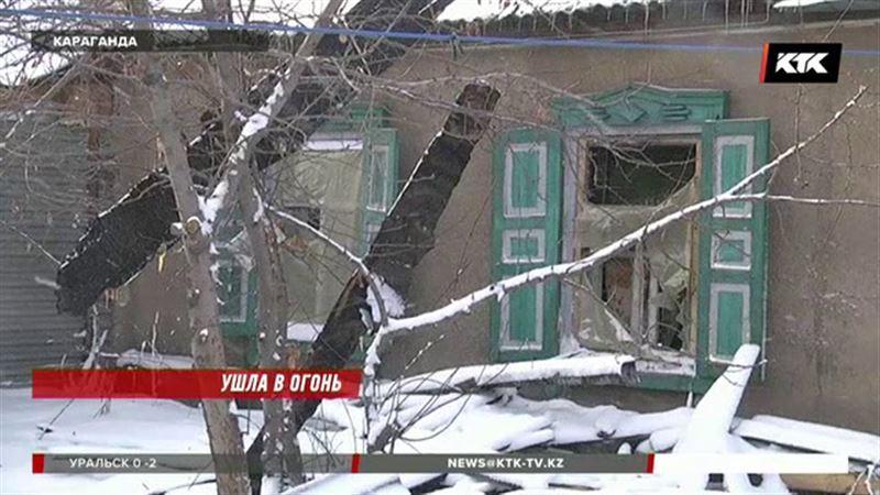 Карагандинская пенсионерка вывела из огня внуков, но сама не спаслась