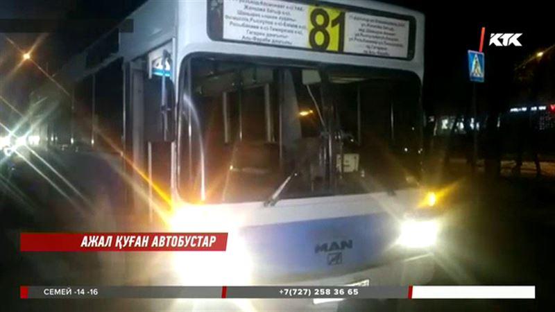 Алматыда тағы бір адамды автобус қағып өлтірді