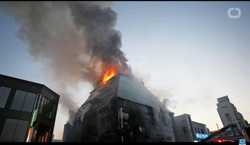 В Южной Корее начался пожар в фитнес-клубе. Есть жертвы