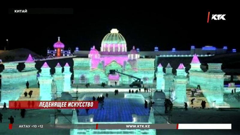 Великий Шелковый путь вдохновил скульпторов харбинского ледяного фестиваля