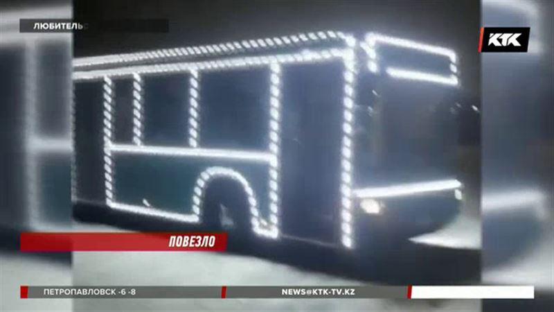 Автобус Деда Мороза появился в Караганде