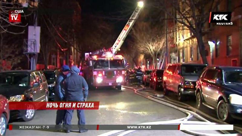 Жители сгоревшей нью-йоркской пятиэтажки пока поживут в школе