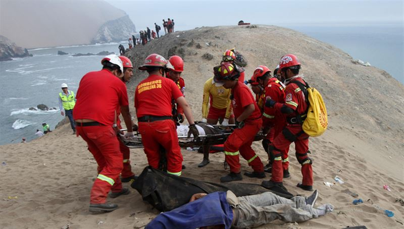 При обрушении моста в Перу погибли пять человек