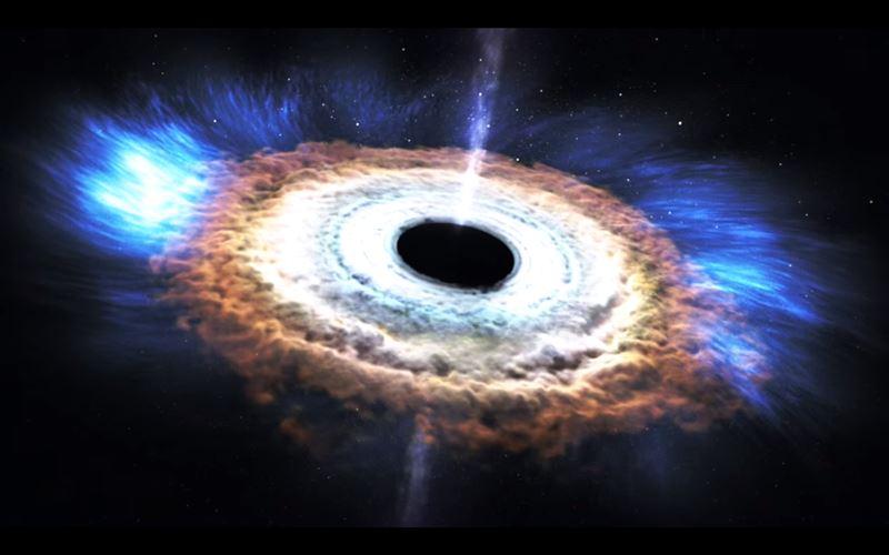 ВИДЕО: НАСА создало анимацию черной дыры, которая на части разрывает звезду