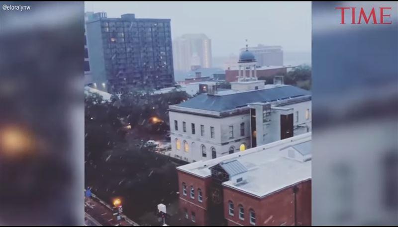 В столице Флориды впервые за несколько лет выпал снег
