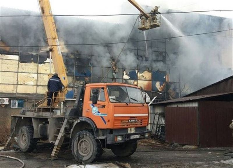 Оглашены последствия пожара в торговом центре в Талдыкоргане