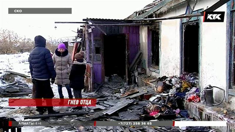 Житель СКО порезал жену, поджег себя и дом