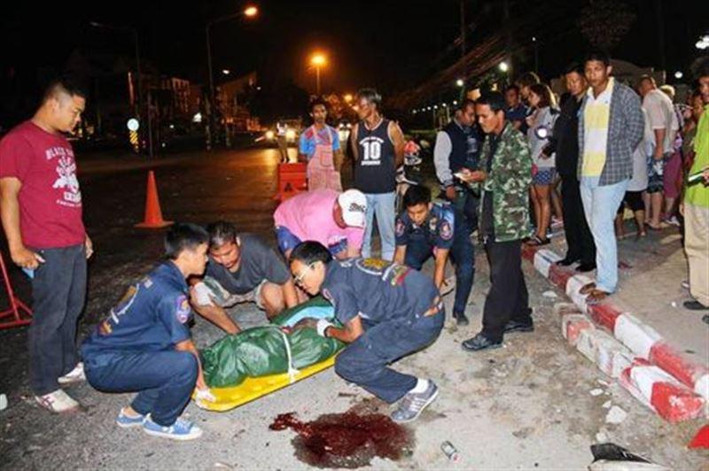 Россиянин на мотоцикле въехал в толпу прохожих в Таиланде, есть жертвы