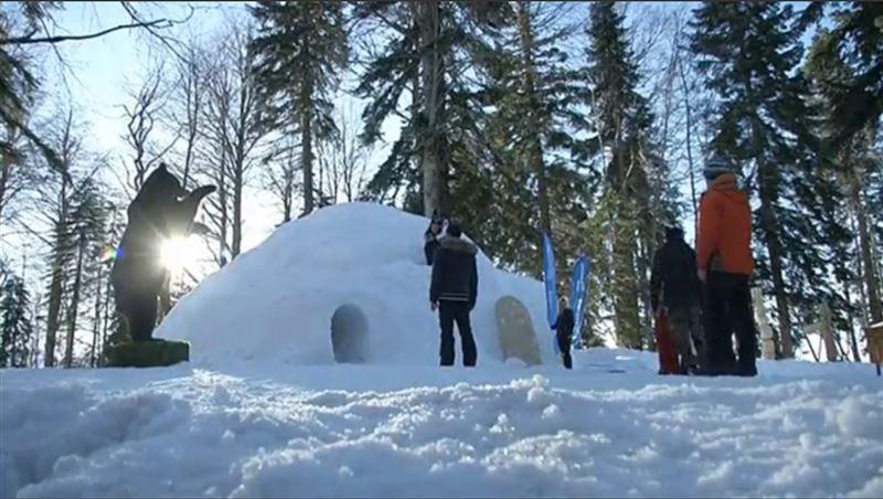 ФОТО: Иглу-отель презентовали в Сочи