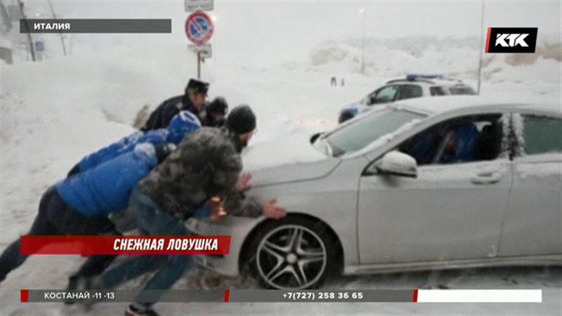 Из-за снегопада на лыжных курортах Европы застряли тысячи туристов