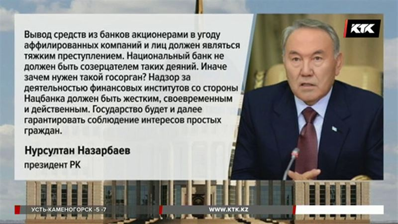 Послание: президент поручил разобраться с проблемными кредитами