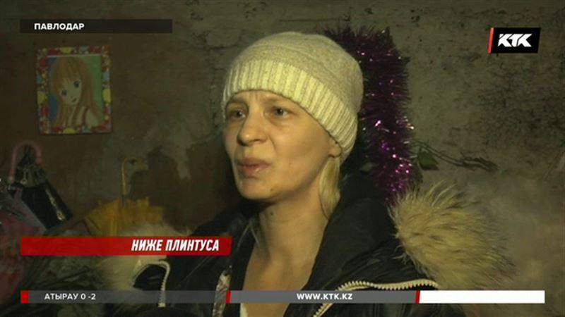 В Павлодаре мать с тремя детьми уже два месяца живет в подвале
