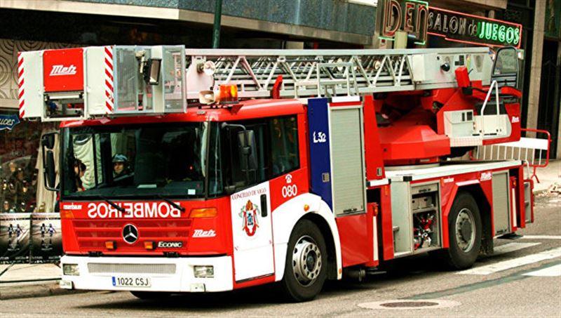 Дом престарелых в Мадриде охватило огнем