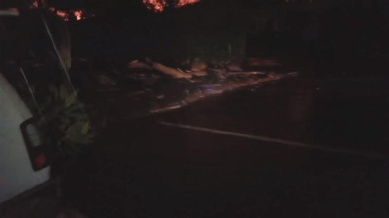Американец снял на видео сход селевого потока на свой дом