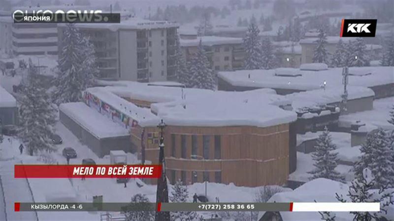 Снегопад накануне форума парализовал движение в Давосе