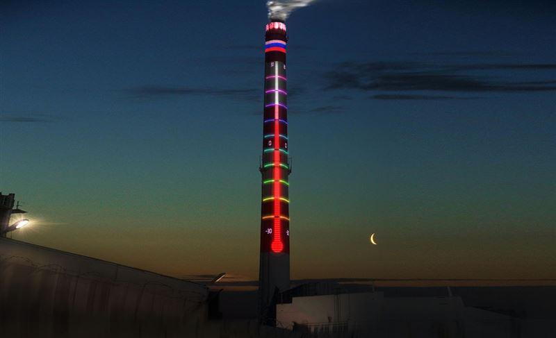 100-метровая труба в Уфе превратилась в термометр