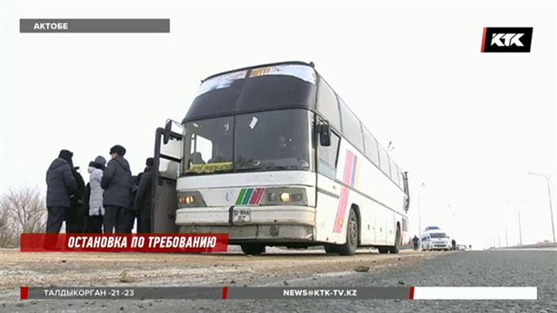 После ЧП в Актюбинской области полицейские и чиновники пошли в рейд