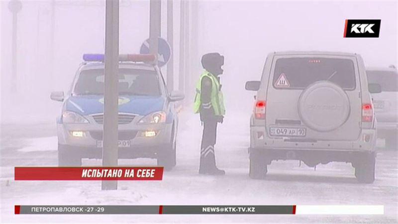 Очередной автобус с гастарбайтерами застрял в Акмолинской области
