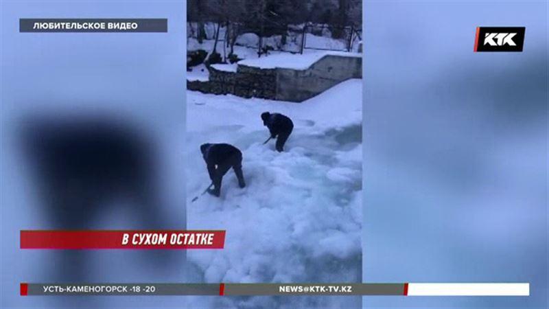 В Алматинской области люди вынуждены топить снег – замёрз трубопровод