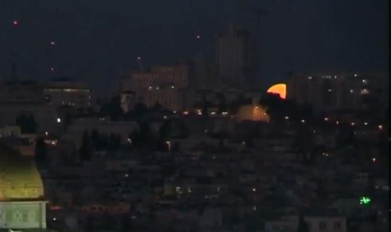 Над Иерусалимом зафиксировали кровавую голубую Луну
