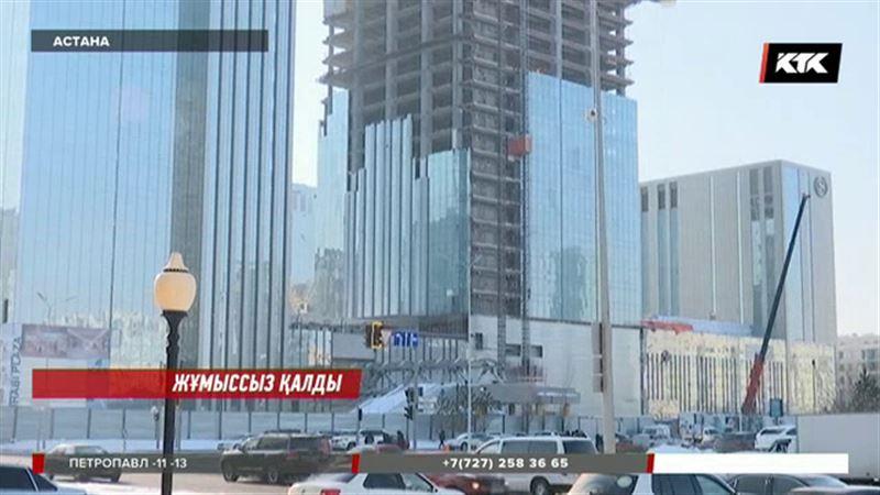 Астанада атышулы Абу Дабидің құрылысшылары наразылыққа шықты