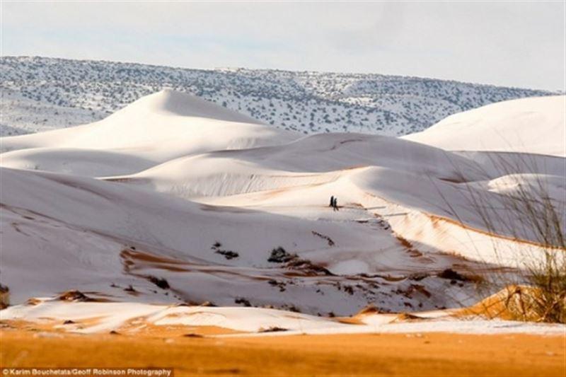 ФОТО: Сахара шөлінде қар жауды