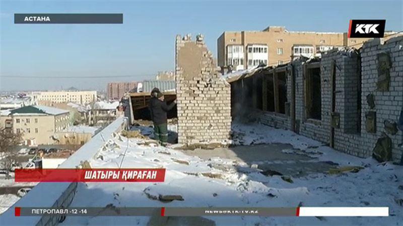 Астанада шатыры қирап қалған тұрғындар қорқыныш құшағында өмір сүріп жатыр