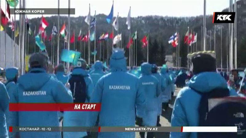В Пхенчхане подняли флаг Казахстана