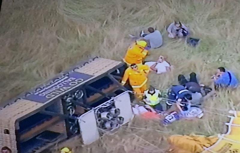 Воздушный шар с пассажирами на борту рухнул в Австралии